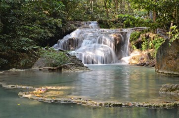 waterfall in erawan national park