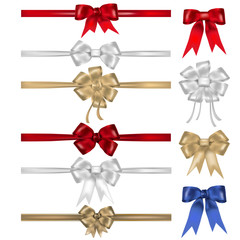 Set of bows and ribbons