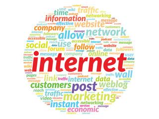 Internet connection info-text graphics and arrangement concept