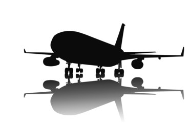 Airliner vector silhouette