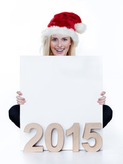 Woman looking forward to the New Year 2015