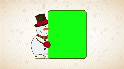 Snowman Video Animation, HD 1080