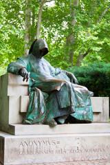 Monument to an anonimus in park Varosliget, Budapest