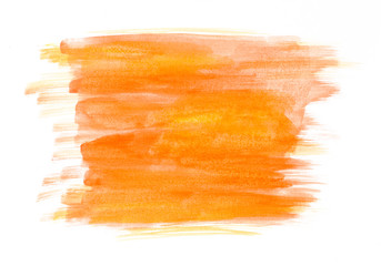 textured yellow and orange watercolor banner