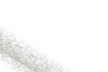 Shiny silver defocused background
