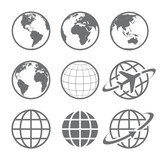 Photo: Earth globe Icon set
