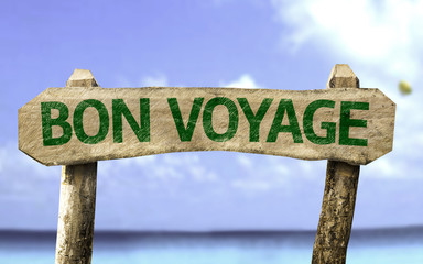 Bon Voyage sign on a summer day
