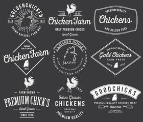 Farm grown chicken meat white on black