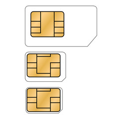 Micro-, Nano-, Sim-Karte - Vektor