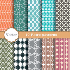 set of seamless patterns.Used for wallpaper, print