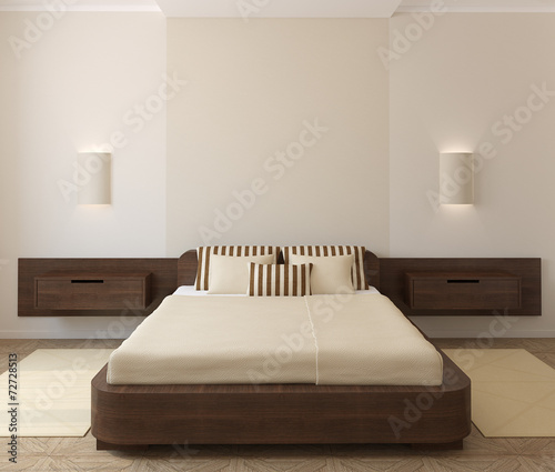 canvas print picture Interior of modern bedroom.