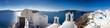 Leinwandbild Motiv Panorama Santorin