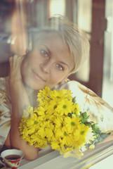 Утро с цветами