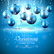 Luxury blue Christmas greeting card