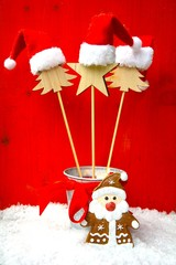 Weihnachtskarte - kleine Mützen