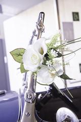Wedding Bouquet car