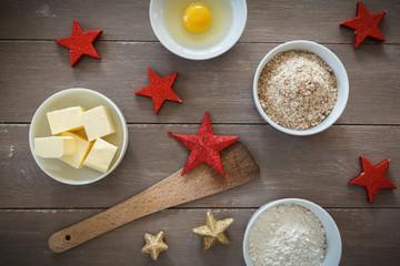Zutaten für die Weihnachtsbäckerei