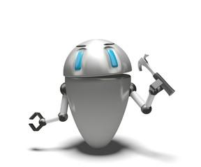 Robot con martello