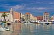 Split historic Peristil view from sea