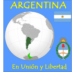 Argentina location emblem motto