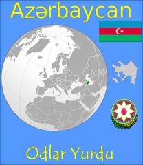 Azerbaijan location emblem motto
