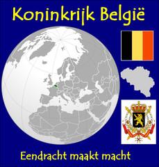 Belgium location emblem motto