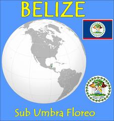 Belize location emblem motto