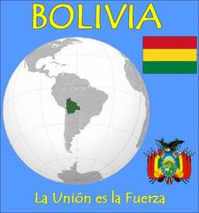 Bolivia location emblem motto