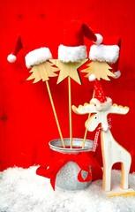 Weihnachtsdeko - kleine Mützen