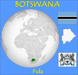 Botswana location emblem motto