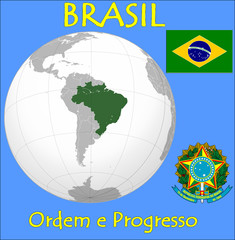 Brazil location emblem motto