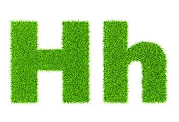 Grass letter H