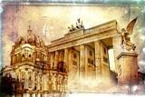 Fototapeta Berlin art design illustration
