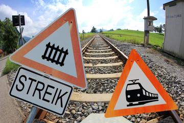 Streik der Bundesbahn