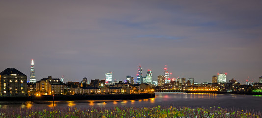 London, skyline from Canary Wharf