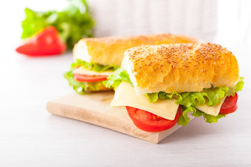 Fresh and tasty sandwiches