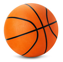basketball ball isolated on the white background