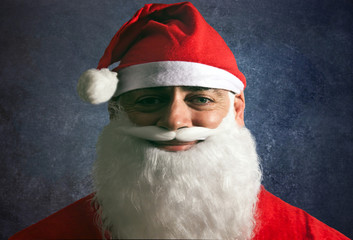 young man dressed as Santa Claus