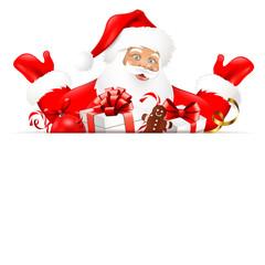 Weihnachtsmann mit Geschenken - Board