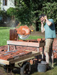 Cutting recycled bricks