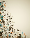 Decorative vintage background with flowers