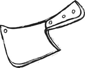 doodle meat cleaver knife