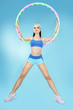 Sport. Active Shapely Sportswoman with Hoop