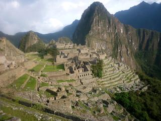 Machu Picchu, the ancient inca city in the Andes. Peru