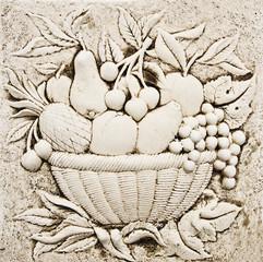 bodegon de frutas petrificado