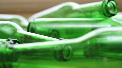Bottles Green Recycling Laying Down Zoom