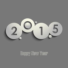Abstract gray New Years wishes template
