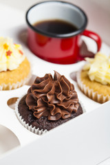 Cupcakes and coffee cup