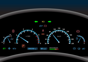 Car dashboard background
