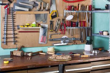 workbench of handyman